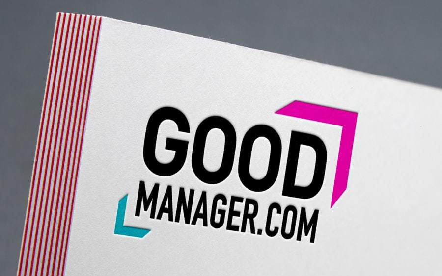 good manager workshops logo design